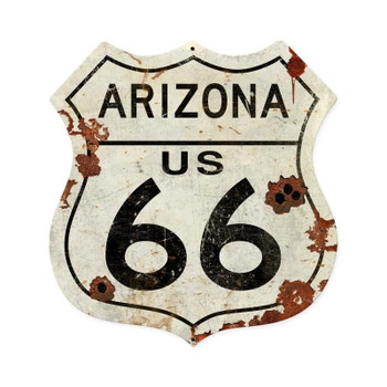 Arizona Rustic Route 66 Shield