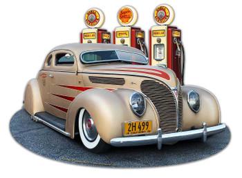 1938 Ford Kustom Super Shell Service Plasma Cut Metal Sign