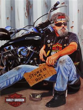 Panhandler Harley-Davidson Metal Sign