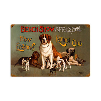 New england Kennel Club Bench Show Dog Competition Metal Sign