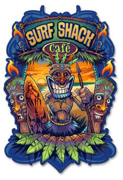 Surf Shack Cafe Tiki Plasma Cut Metal Sign