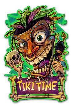 It's Tiki Time Plasma Cut Metal Sign