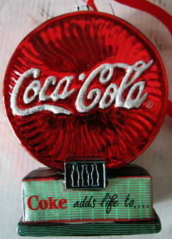 Coke Adds Life to...  Glass Ornament