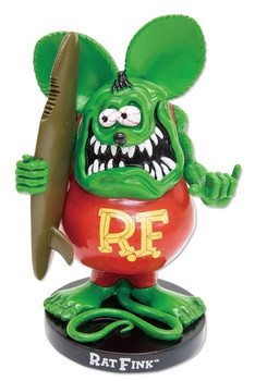 Bobbing Rat Fink with Surfboard