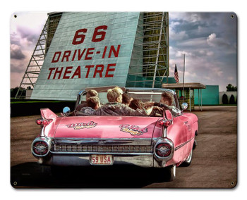 66 Drive In Theatre Metal Sign