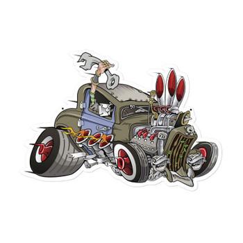 Rat Rod Cartoon Car