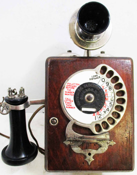 Strowger Wood Wall Phone - Circa 1905