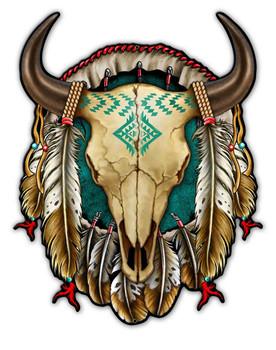Buffalo Skull Dream Catcher