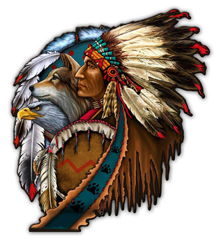 Eagle wolf Indian Dream Catcher