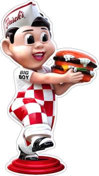 Frisch's Big Boy Running with Hamburger Plasma Cut Metal Sign by Michael Fishel
