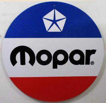 """MOPAR Logo12"""" Round Metal Sign"""