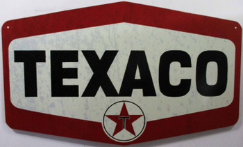 Texaco Die Cut Logo Metal Sign
