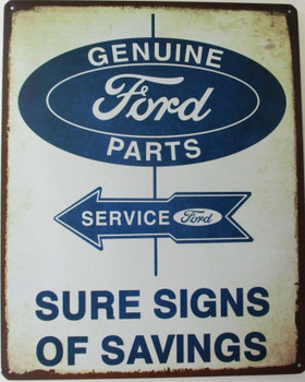 Genuine Ford Parts-Service Metal Sign