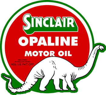 Sinclair Opaline Motor Oil Metal Sign