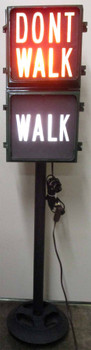 Walk / Dont Walk Signal Light on Stand ( Metal )