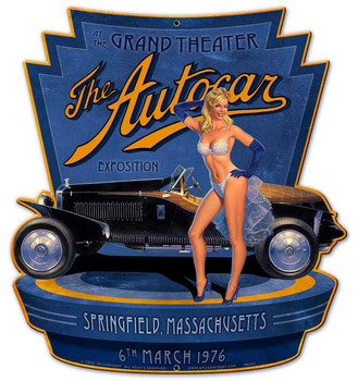 The Autocar Exposition Metal Sign