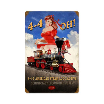 440 Steam Locomotive Train Pin Up