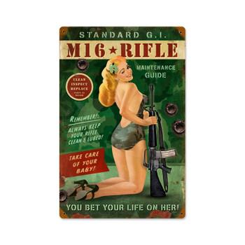 M16 Rifle Pin Up