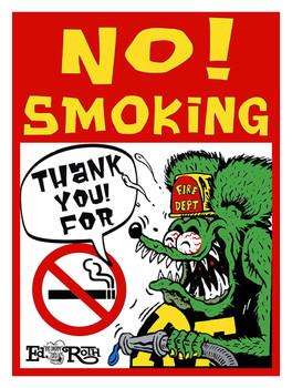 No Smoking! Fire Department Rat Fink