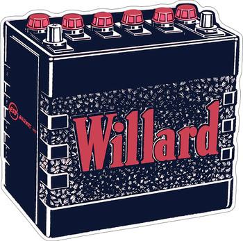 Willard Battery Metal Sign
