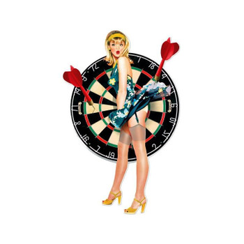 Bullseye Dart Board Pin Up Laser Cut Pin-Up Sign
