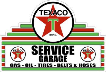 Texaco Service Garage Gas Oil Tires Belts & Hoses Plasma Cut Metal Sign