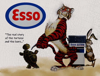 Esso Tiger Story Premium Motor Oil Metal Sign