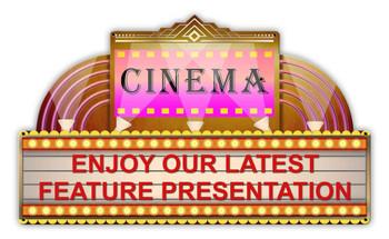 Cinema Marquee Plasma Cut Metal Sign