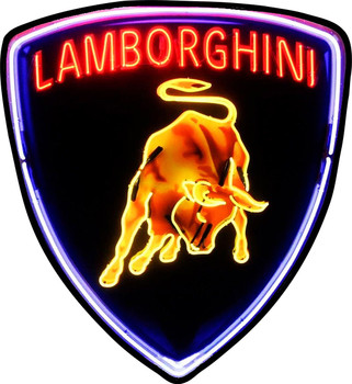 Lamborghini Shield Plasma Cut Metal Sign