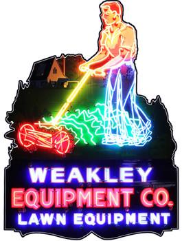 Weakley Lawn Equipment Co Plasma Cut Metal Sign