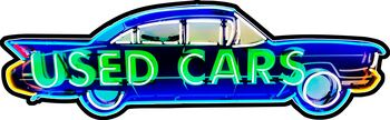 Used Cars Plasma Cut Metal Sign