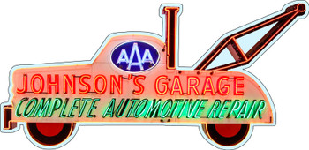 AAA Johnson's Garage Plasma Cut Sign