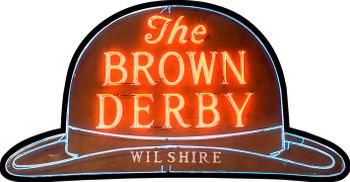 The Brown Derby Plasma Cut Metal Sign (Large)