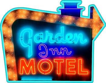 Garden Inn Motel Neon Style Sign