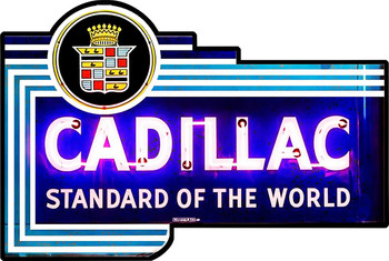 Cadillac Neon Style Sign