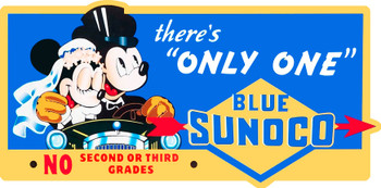 Blue Sunoco Mickey and Minnie