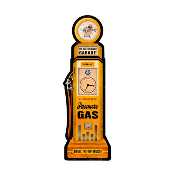 Busted Knuckle Passmore Gas Pump Plasma Cut Metal Sign