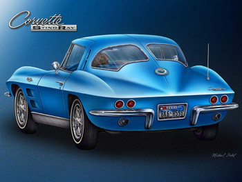 1963 Corvette Metal Sign by Michael Fishel