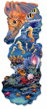Seahorse Plasma Cut Metal Sign