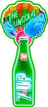 The Uncola Soda 7 UP Plasma Cut Metal Sign