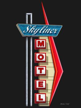 Skyliner Motel Metal Sign by Michael Fishel