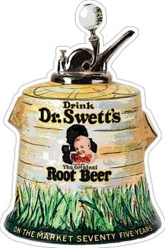 Dr. Swett's Root Beer Syrup Dispenser Plasma Cut Metal Sign