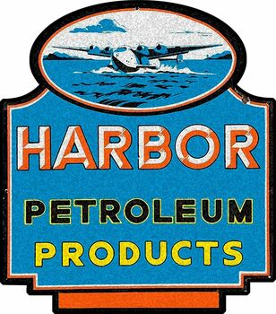 Harbor Petroleum Products Metal Sign