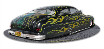 1949 Led Sled with Flames