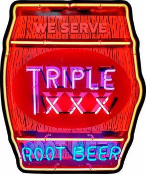 Triple XXX Root Beer Barrel