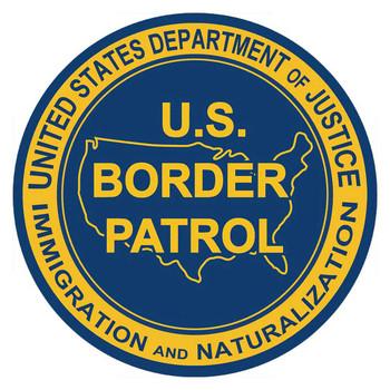 US Border Patrol Round Metal Sign by Michael Fishel