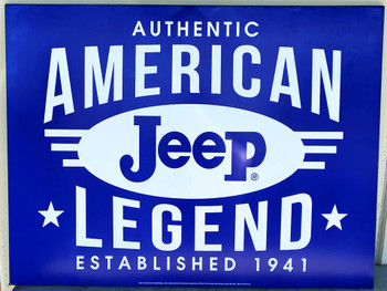 """Jeep American Legend Metal Signs Paper Litho 39"""" by 30"""""""