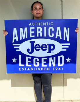 "Jeep American Legend Metal Signs Paper Litho 39"" by 30"""