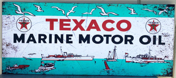 """Texaco Marine Metal Signs Paper Litho 54"""" by 23"""""""