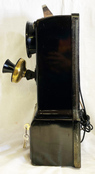 Automatic Electric Pay Telephone 3 Coin Slot 1930's Rotary Dial Restored